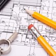 Engineering and architecture drawings — Foto Stock