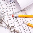 Engineering and architecture drawings - Stock Photo