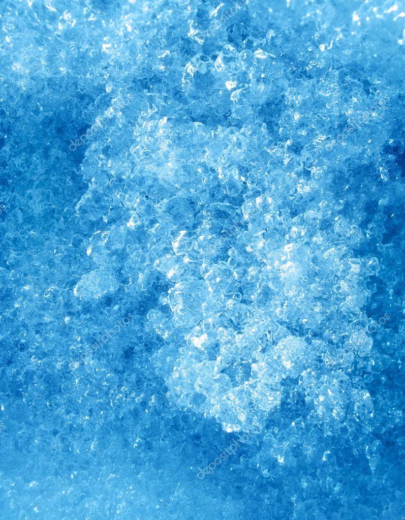 蓝色冰背景的关门– 图库图片