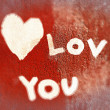 Inscription I love you — Stock Photo