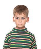 Cute boy anger — Stock Photo