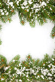 Christmas framework with snow — Stock Photo