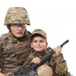 Military Father and Son — Stock Photo #5991652