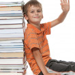 Boy and books — Lizenzfreies Foto