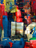 Abstract colorful mirror mosaic. — Stock Photo