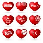 Hearts set (allegorical icon). — Stock Vector #5942991