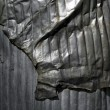 Crumpled metal background. — Stock Photo