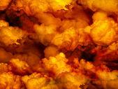 Orange clouds background. — Stock Photo