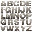 Iron alphabet. - Stok fotoraf