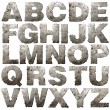 Iron alphabet. - Foto Stock
