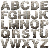 Iron alphabet. — Stock Photo
