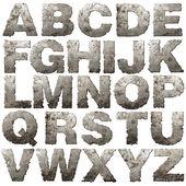 Iron alphabet. — Stock Photo