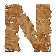 Rusted letters. — Stock Photo