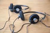 Audio conference headphones — Stock Photo