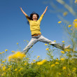 Jumping happy girl — Stock Photo #6459880