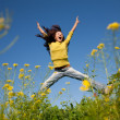 Jumping happy girl — Stock Photo #6459884