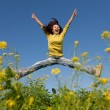 Jumping happy girl — Lizenzfreies Foto