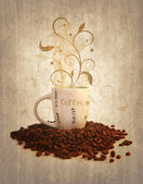 Grunge cup off coffee — Stock Photo