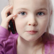 Little girls with telephone — Stock Photo #5937406