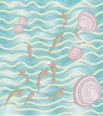 Sea-shoaling water — Stock Vector