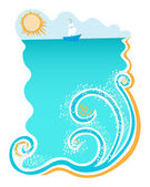 Sea and waves — Stock Vector