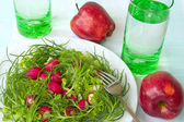 Salad with radishes — Stock Photo