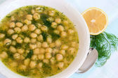 Soup with chickpea — Stock Photo