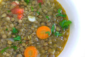 Soup with lentil — Stock Photo