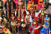 Dolls dress ethnic Kazakh costume — Stock Photo