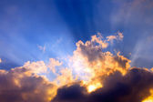Dramatic sunset — Стоковое фото