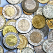 Stock Photo: Different currency and coins as a background