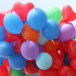 Balloons against blue sky — Stock Photo