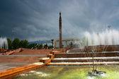 Fuente y paisaje de la ciudad — Foto de Stock