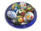 Easter egg on plate — Stock Photo