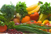 Group of vegetables and fruits — Stock Photo