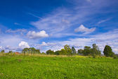 Landscape meadow and sky — Stock Photo