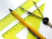 Geometric set measurement — Stock Photo