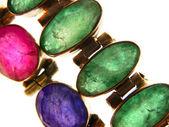 Jewelry ruby, sapphire, emerald — Stock Photo