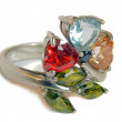 Ring with topaz — Stock Photo