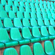 Empty row plastic seat - Stock Photo