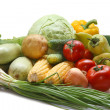 Colorful fresh group of vegetables and fruits — Stock Photo #6157217