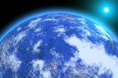 Gezegen illüstrasyon — Stok fotoğraf