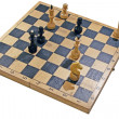 Chess on chessboard — Stock Photo