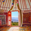 Kazakh nomads dwelling - Stock Photo