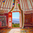 Stock Photo: Kazakh nomads dwelling