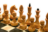 Chess on chessboard — Foto Stock