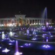 Fountain at night - Stock Photo