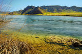 風景川と山 — ストック写真