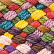 Multi colored woollen yarns — Stock Photo #5424951