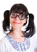 Nerd Student Girl — Stock Photo